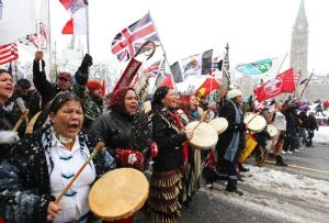 Idle No More protest in Toronto last month