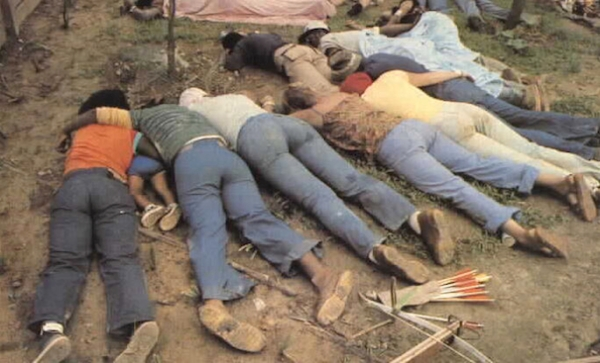 Victims of the Jonestown suicide cult