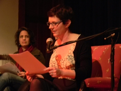 Great Barrington Select Board representative and author Alana Chernila reads her work--an open letter to Fox News anchor Bill O'Reilly--on opening night of the Berkshire Festival of Women Writers (3-1-13)