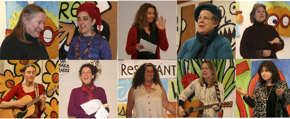 Women sharing their creative visions at the Deb Koffman open mic in Housatonic, MA