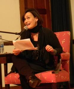 Jenny Laird reading on opening night of the 2014 Berkshire Festival of Women Writers