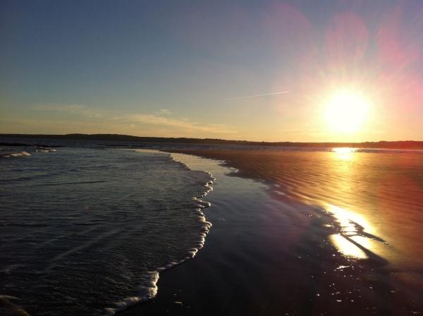 sunset on crescent
