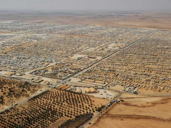 Syrian refugee camp in Jordan, now Jordan's fifth largest city