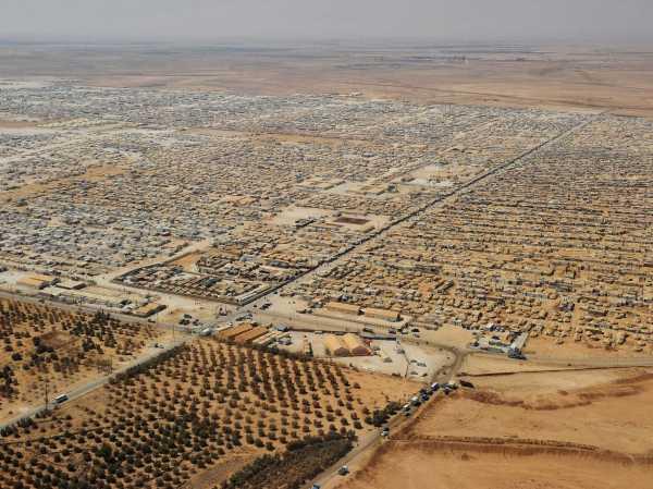 Syrian refugee camp in Jordan, now Jordan's fifth largest city