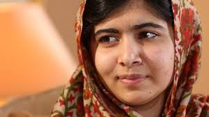 Malala Yousefzai, winner of the 2014 Nobel Peace prize