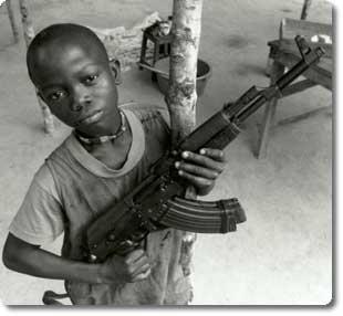 Liberian child soldier