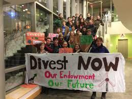 Student divestment activists at Tufts University
