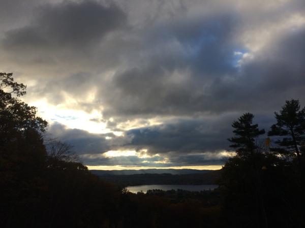 Morning clouds over Stockbridge Bowl. Photo J. Browdy, 2014
