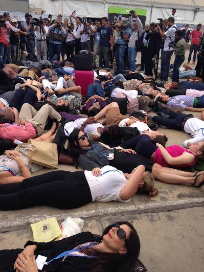 Die-In at the COP 20 climate talks in Lima, Peru, December 2014