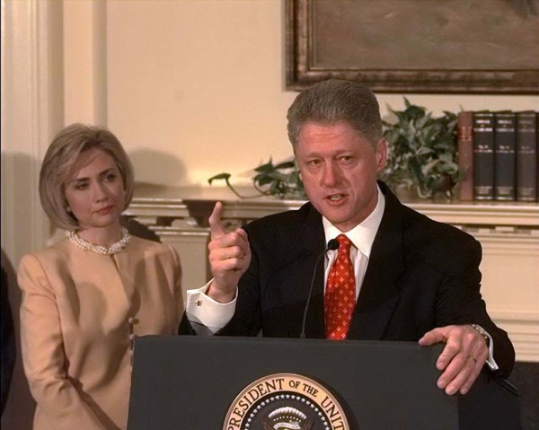 Pres. Clinton Denies Lewinsky Affair